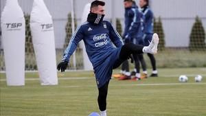 Messi en la concentración en Rusia con Argentina