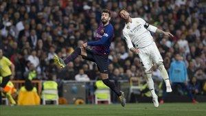 Messi y Sergio Ramos, en un clásico