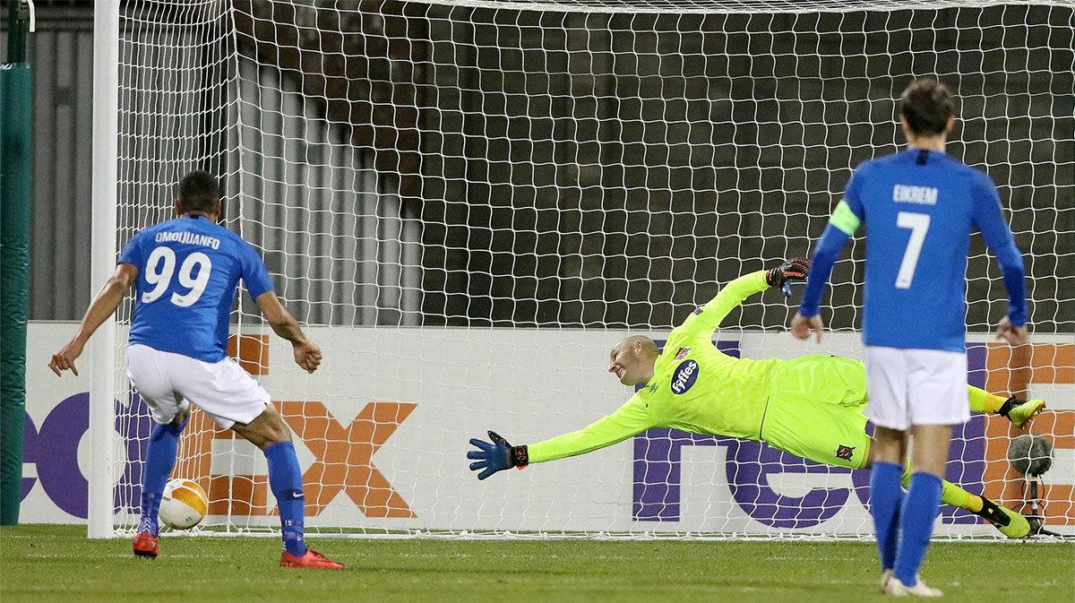 Ohi Omoijuanfo marcó el gol de la remontada ante el Dundalk