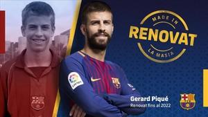 Piqué renovó por el FC Barcelona