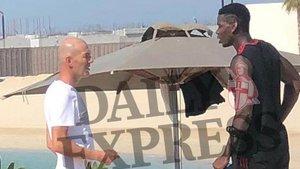 Pogba y ZIdane,. cazados en plena conversación en Dubai