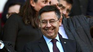 El presidente del FC Barcelona, Josep Maria Bartomeu, está feliz por la renovación de Francisco Javier Garcia Pimienta