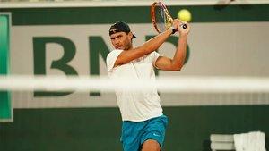 Rafa Nadal, listo para Roland Garros