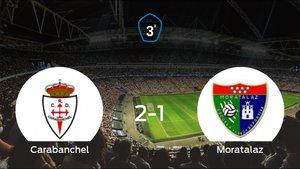 El RCarabanchel suma tres puntos a su casillero tras ganar al Moratalaz (2-1)