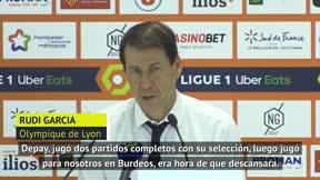 Rudi García deja en el banquillo a Depay y así lo justifica