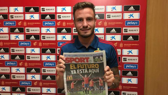 Saúl, maravillado con Leo Messi