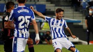 Silva durante el encuentro liguero de la segunda jornada