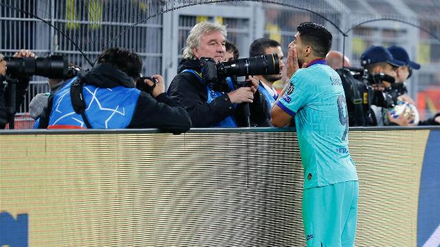 A Suárez se le sigue resistiendo el gol en Champions fuera de casa
