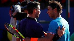 Thiem y Nadal se enfrentaron en semifinales de Barcelona
