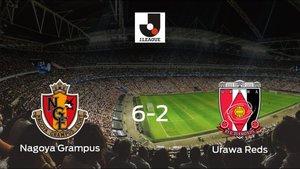 Tres puntos para el casillero del Nagoya Grampus tras pasar por encima al Urawa Reds (6-2)