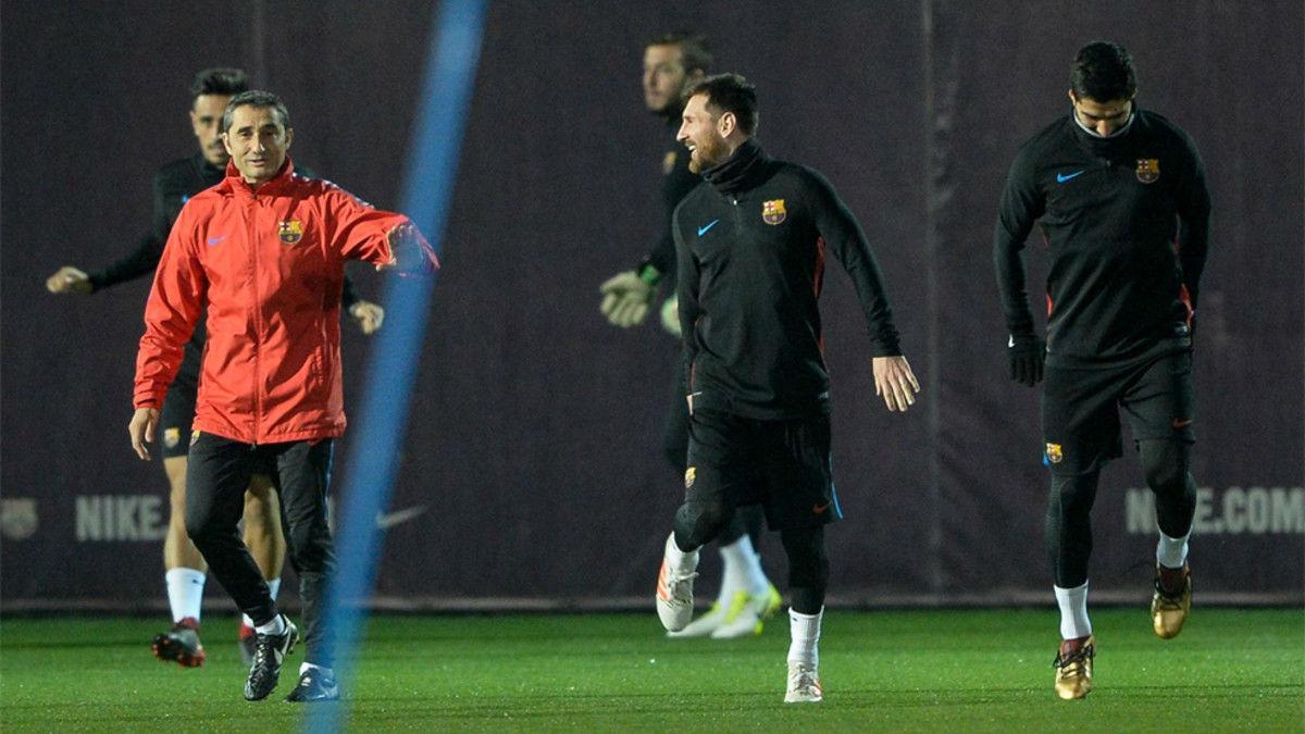 Valverde ha podido trabajar con todos los jugadores disponibles en el entrenamiento