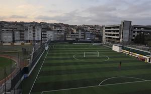 La vista panóramica del estadio con el nombre de Arda Turan