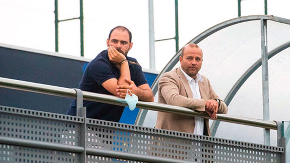 Xavier Vilajoana visitó al equipo, que sigue trabajando en la Ciudad Deportiva