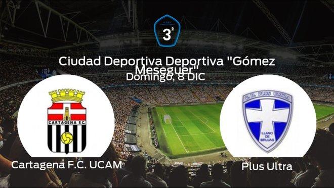 Previa del partido: el Cartagena F.C. UCAM recibe al Plus Ultra en la decimosexta jornada