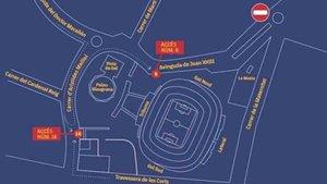 El acceso al Camp Nou estará restringido este sábado en el partido entre el FC Barcelona y el Eibar