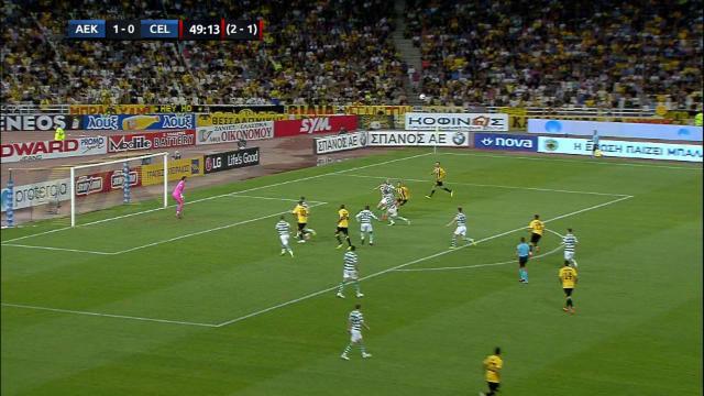 AEK 2-1 Celtic. Los escoceses, eliminados en la previa