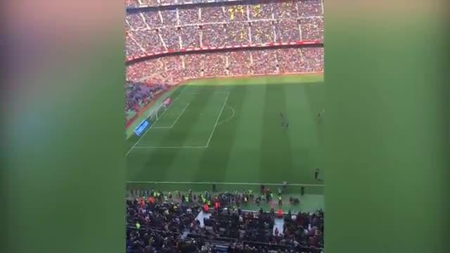 Así fue la pitada del Camp Nou dirigida a Bartomeu