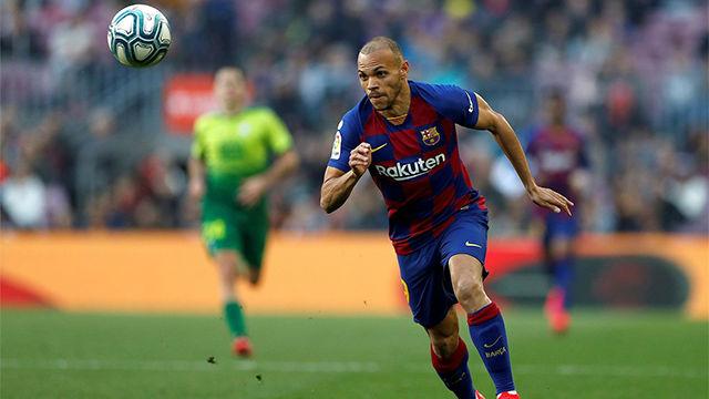 Así ha sido el debut de Braithwaite con el Barça
