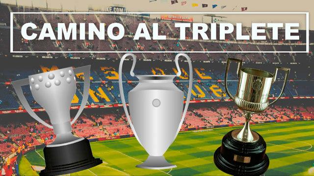 El Barça, de camino al triplete