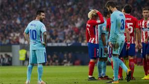 El Barça empató ante el Atlético en el Wanda Metropolitano