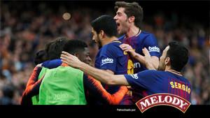 El Barça, pese a ir de más a menos, logró un triunfo que le da media Liga