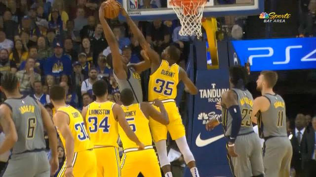 El brutal tapón de Durant