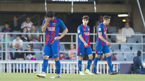La cara de los jugadores del Barça B lo dice todo
