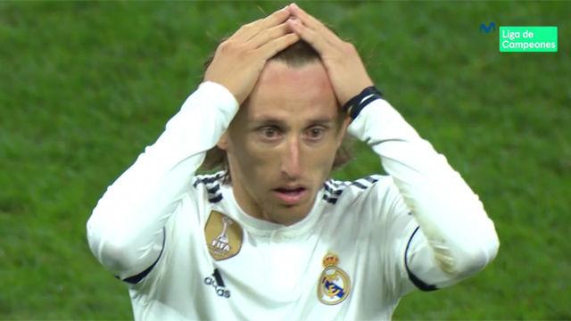 La cara de Modric al finalizar el encuentro fue un poema