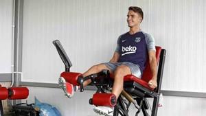 Denis Suárez se recupera de su lesión