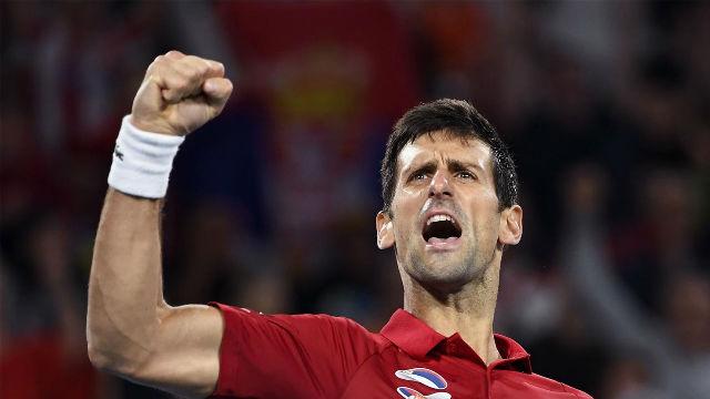 Djokovic ganó el segundo punto de la final a Nadal