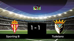 Empate, 1-1, entre el Sporting B y el Tudelano