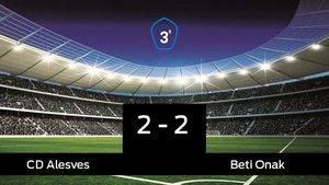 Empate (2-2) entre el Alesves y el Beti Onak
