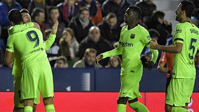 Gran asistencia de Busquets en el primer gol de Messi