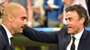 Guardiola y Luis Enrique rivalizaron como técnicos en un Barça-Bayern