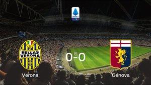 El Hellas Verona y el Génova concluyen su enfrentamiento en el Stadio Marcantonio Bentegodi sin goles (0-0)