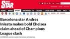 Iniesta habla de Luis Enrique en la prensa inglesa