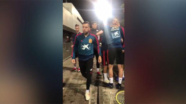 Jordi Alba volvió a entrenar con la selección