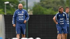 Jorge Sampaoli está trabajando con Argentina en Barcelona