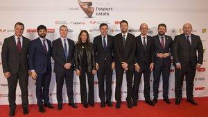 Josep Maria Bartomeu, Jordi Cardoner, Óscar Grau y Emili Rousaud encabezaron la delegación del FC Barcelona
