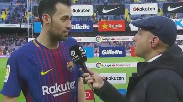 LALIGA | FC Barcelona - Atlético de Madrid (1-0): Busquets: La Liga se consigue ganando a los mejores