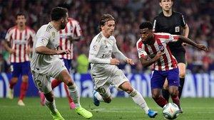 Lemar, ante el Real Madrid