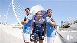 Los hermanos Rico y Paula Josemaría en la presentación del Estrella Damm Valencia Open