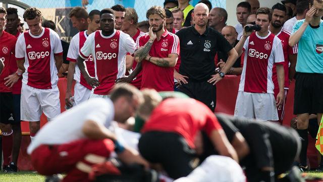 Los jugadores del Ajax temieron lo peor con Nouri