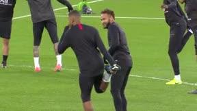 Mbappé y Neymar ríen en el Bernabéu