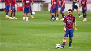 Messi, antes del Gamper