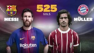 Messi igualó a Müller