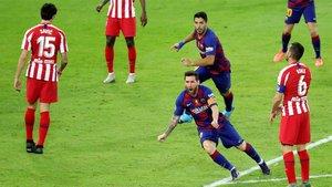 Messi y Suárez, en la Supercopa de España