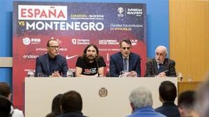 Montero estuvo en la presentación de Zaragoza
