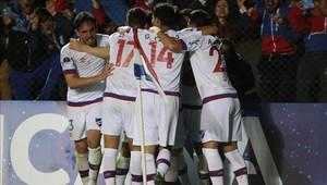 Nacional venció a San Lorenzo por la Copa Sudamericana