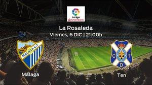 Previa del partido de la jornada 19: Málaga contra Tenerife